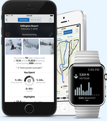 Slopes on the iPhone and Apple Watch